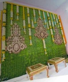 Ideas For Wedding Table Garland Simple Wedding Table Garland, Wedding Hall Decorations, Diy Wedding Backdrop, Marriage Decoration, Engagement Decorations, Backdrop Decorations, Ceremony Backdrop, Backdrops, Outdoor Ceremony