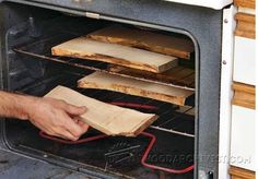 Dry Small Parts in Your Oven - Woodworking Tips and Techniques | WoodArchivist.com