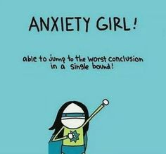 sadly, PTSD is an anxiety disorder. If you have C-PTSD or PTSD, you are probably no stranger to anxiety. There are ways to cope, however, so don't despair: you don't have to be Anxiety Girl! Jean Rostand, Angst Quotes, Anxiety Girl, Anxiety Cat, Haha, Funny Jokes, Hilarious, No Kidding, Story Of My Life