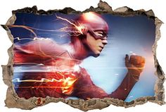 FLASH Smashed Wall Decal Removable Wall Sticker Marvel Super Hero Art H220 Mini ** Details can be found by clicking on the image.Note:It is affiliate link to Amazon.