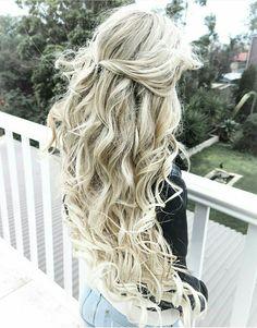 Long blonde mermaid hair