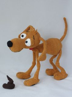 Doug the Dog  Amigurumi Crochet Pattern van IlDikko op Etsy, $6.20