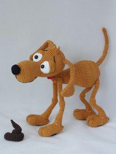 Amigurumi Crochet Pattern  Doug the Dog por IlDikko en Etsy