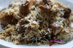 **Dhakai Kacchi Biryani: Coriander seeds - 1 tbsp Cumin seeds - 1 tbsp, Dry red chillies - 5-6,  Nutmeg Jaiphal - half a piece,  Mace (Javitri) - 2 pieces, Green Cardamom - 3-4 nos, Cinnamon - 2 small sticks, Cloves - 5-6 nos, Basmati Rice - 2 cups, Mutton - half kg, Brown onion slices - 4 tbsp + 1 tbsp. Yogurt - 1 cup, Garlic paste - 1tbsp, Ginger paste - 1 tbsp, Potatoes - 2 med sized, Kewra essence (screwpine) - 1 tsp, Salt. We also put whole prunes in arrangement b4 putting in oven.