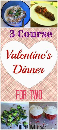 3 Course Valentine's Dinner For Two   Table for Two, please?