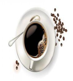 تصميم قهوة الصباح فنجال وكوب رائع ملف مفتوح