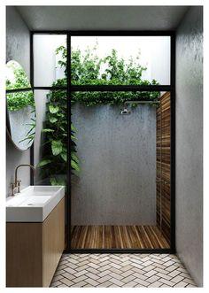 Modern Bathroom Decor, Bathroom Interior Design, Bathroom Ideas, Bathroom Designs, Diy Interior, Shower Ideas, Modern Bathrooms, Kitchen Interior, Zen Bathroom Design