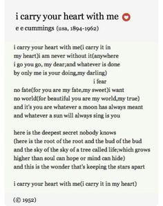 Our wedding poem. ❤