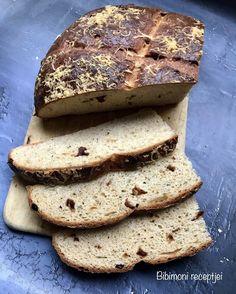Sajtos - Zöldfűszeres házi kenyér | Bibimoni Receptjei Bread, Food, Brot, Essen, Baking, Meals, Breads, Buns, Yemek