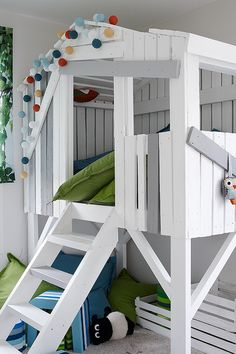 Great bedroom or playroom idea for your kids - created by Tikkurila and painted in #liitu