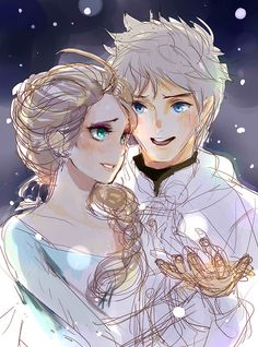 Jack Frost(DreamWorks/RiseOfTheGuardians) and Elsa(Disney/Frozen)