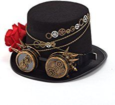 I have finally finished my video tutorial on how to make a steampunk top  hat!   This hat is a revision of my cardboard steampunk top hat, being that the  cardboard hat was too uncomfortable to wear for any length of time and fit  only a very specific hea