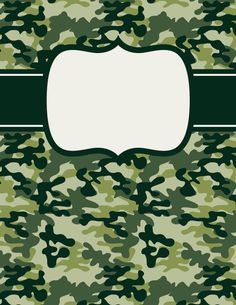 Free printable green camouflage binder cover template. Download the cover in JPG or PDF format at http://bindercovers.net/download/green-camouflage-binder-cover/