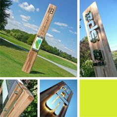 Timber fin signage - environmentally friendly sustainable signage system