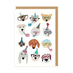 Celebratory Dogs Greeting Card