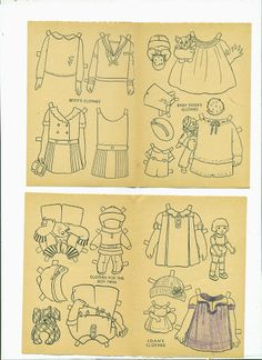20 Dolls and Dresses the Big Little Set 1930's – Bobe Green – Picasa Nettalbum