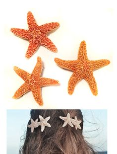Mermaid Hair Starfish Hair Clips The Little by TheBohipstian