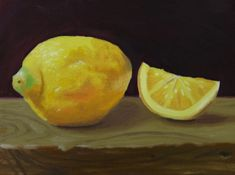 painting of a lemon | Lemon Oil Painting by golfiscool