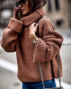 mode chic Fashion Look Featuring Free People Sweaters and AG Jeans Women's Fashion by MiaMiaMine - ShopStyle Moda Outfits, Winter Outfits, Casual Outfits, Fashion Mode, Fashion Outfits, Womens Fashion, Fashion Trends, Moda Fashion, Street Fashion