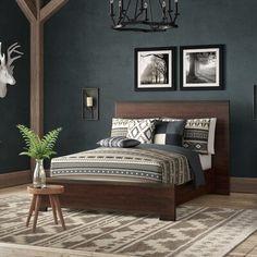 Home Interior, Interior Design, Rustic Bedding, Rustic Headboards, Reclaimed Wood Headboard, Home Bedroom, Rustic Master Bedroom, Woodsy Bedroom, Rustic Bedroom Design