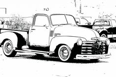 Free coloring sheets pictures of vintage cars for kids. Bring a little bit of nostalgia to your next family gathering.