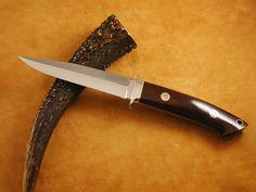 Bob Loveless and Steve Johnson logos are among the most wanted Loveless knives ever made. Micarta handle. #loveless #famousknives #fighter #dagger #bigbear  #bobloveless #johndenton #customknives #tactical #knifecollecting #handmadeknives #droppointhunter #bootknife #semiskinner #stevejohnson #jimmerritt #r.w.loveless #boblovelessbook #knifecollectorsbook #customknives #custom #tactical  #guncollecting #michealwalker #investment #ferrari #rolex Collector Knives, Boot Knife, Vintage Bob, Loveless, Handmade Knives, Big Bear, Custom Knives, Ferrari, Rolex