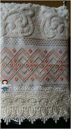 Resultado de imagem para toalhas em ponto reto