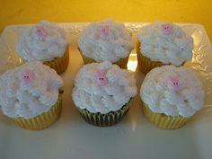 Easter Cupcakes - small bunny face | Flickr - Photo Sharing!