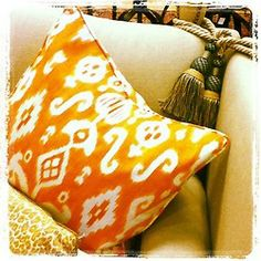 crushculdesac:    Orange Ikat!!! I ❤them!!  Taken with Instagram