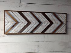This #Rustic 1x3 #barnwood #wallart with #geometric design would look great in any room in your house! Did I mention *FREE SHIPPING* In the U.S.