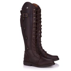 Ladies Andalucia Italian Leather Lace and Zip Boots Brown Shooting Clothing, Long Boots, Cool Countries, Country Outfits, Andalucia, Brown Boots, Italian Leather, Leather And Lace, Combat Boots