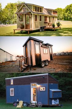 Tiny houses on wheels are becoming rapidly popular as more are people are influenced by the minimalist lifestyle. Alongside the biggest advantage of portability, most of them are eco-friendly and economical than traditional homes, making them an ideal choice for those who travel frequently. Metal Siding, Metal Roof, Timbercraft Tiny Homes, Tiny House Builders, Transforming Furniture, Best Tiny House, Small Space Design, Wooden Staircases, Traditional Homes