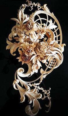 Custom Wood Carving by Alexander Grabovetskiy/ Absolutely incredible wood carvin. Custom Wood Carving by Alexander Grabovetskiy/ Absolutely incredible wood carving. Art Sculpture En Bois, Wal Art, Wood Carving Art, Wood Carvings, Decoration Inspiration, Wood Creations, Custom Wood, Hand Carved, Carved Wood