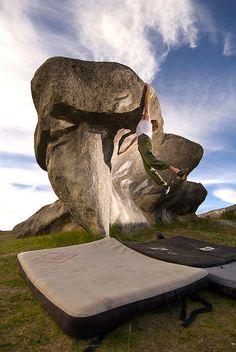 Castle Hill, New Zealand - bouldering