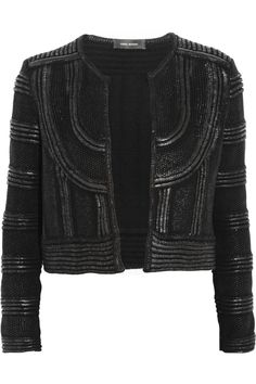 Isabel Marant | Kazia lacquered cotton-knit jacket | NET-A-PORTER.COM