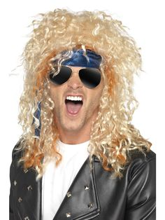 Heavy Metal Rocker AXL Rose Blonde Wig Glasses and Bandana Kit Smiffys 41568 for sale online 1980s Fancy Dress, Adult Fancy Dress, Rose Blonde, Blonde Wig, Fancy Dress Accessories, Costume Accessories, Rocker Costume, Aviator Glasses, Axl Rose