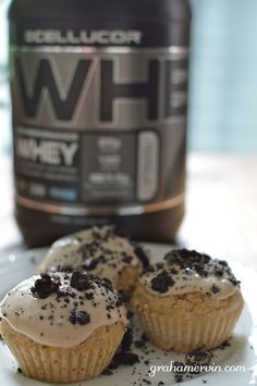 Recipe: Cellucor Cookies 'N Cream Protein Cupcakes. 08/04/2014 #teamgraham #cellucor #eatclean  BONUS---> 20% off and free shipping with code: teamgraham at cellucor.com or call 866.927.9686.