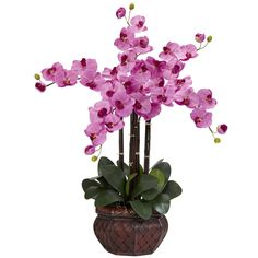 Nearly Natural 1211-MA Phalaenopsis with Decorative Vase Silk Flower Arrangement, Mauve *** Be sure to check out this awesome product.