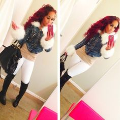 hair Snooki And Jwoww, Jersey Girl, Shirt Skirt, Fashion Killa, Pretty Hairstyles, Red Hair, Dress To Impress, White Jeans, Short Dresses