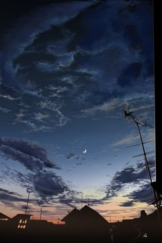 Just after sunset #art