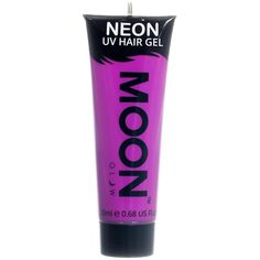 Moon Glow 20ml Neon UV Hair Gel Temporary Wash-out Hair Colour Purple (£2.81) ❤ liked on Polyvore featuring beauty products, haircare and hair color