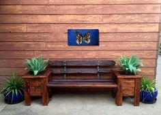 Here is an amazing and delicate idea of decorating your outer space by crafting a wood pallet bench. These wood pallet benches made from recycled pallets can enhance the beauty of your garden and can be used as pot also this gives a fresh and unique look.