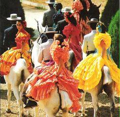 SPAIN / ANDALUSIA / Festivities - Pilgrimage to El Rocío, Huelva , Spain. ,