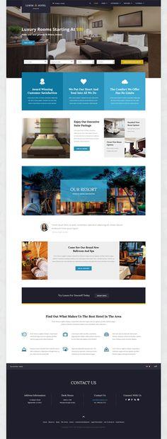 Luxon Responsive Resort Hotel Joomla Template