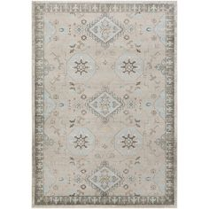"""Charlton Home Cogdell Gray/Blue Area Rug Rug Size: 2'2"""" x 3'"""