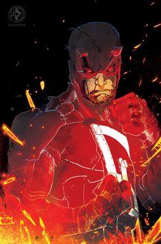 Daredevil by Leo Colapietro on Artstation Comic Book Artists, Comic Book Characters, Marvel Characters, Comic Books Art, Comic Art, Hq Marvel, Marvel Comics Art, A Comics, Marvel Heroes