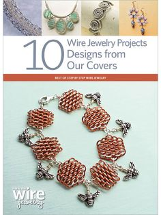 Create 10 of our beautiful wire jewelry projects featured on the cover of Step by Step Wire Jewelry magazine! Advance your skills as you create gorgeous earrings, beautiful bracelet designs, and knock out necklaces. Wire Jewelry Making, Metal Jewelry, Custom Jewelry, Pendant Jewelry, Handmade Jewelry, Bracelet Designs, Necklace Designs, Jewelry Accessories, Jewelry Design