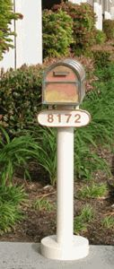 The Basic Mailbox Post & Westchester Brass Mailbox with Locking Insert Option by Streetscape Mailboxes is on sale now. New Mailbox, Victorian Mailboxes, Metal House Numbers, Mounted Mailbox, Address Plaque, Brass, Outdoor Decor, Colleges, College
