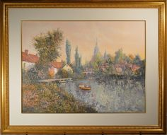 """Colin Maxwell Parsons Artist Proof Signed Litho """"Riverside Morning"""" AP 41/50! in Art, Art from Dealers & Resellers, Prints 