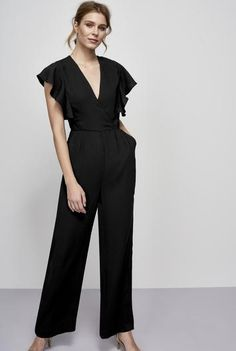#BFCM #BlackFriday #CyberMonday #Long Tall Sally US - #Y.A.S Tall Y.A.S Tall Milne Frill Jumpsuit at Long Tall Sally - AdoreWe.com